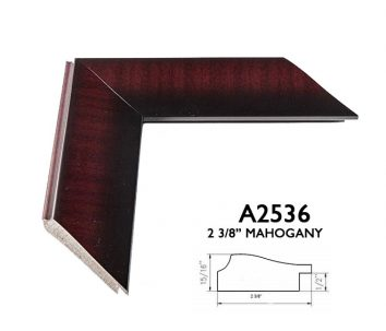 "2 3/8"" shaded mahogany A2536"