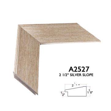 """2 1/2"""" slope brushed steel A2527"""