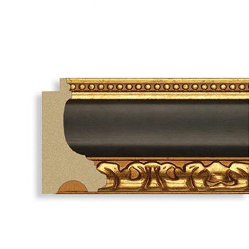 535-70 3 3/8 black w gold