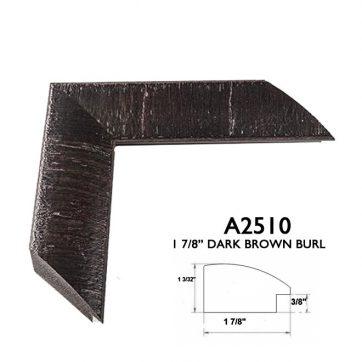 "1 7/8"" dark brown burl A2510"