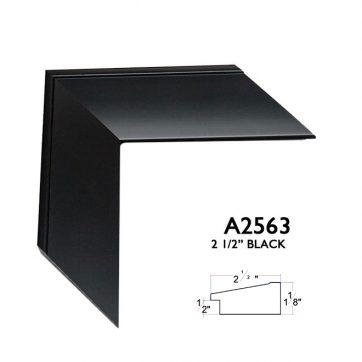 """2 1/2"""" matte black A2563"""