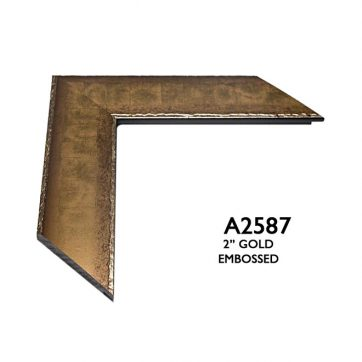 """2"""" gold embossed 2587"""