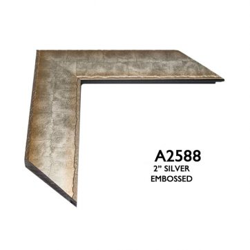 """2"""" silver embossed 2588"""