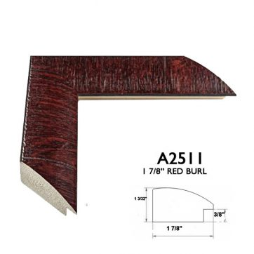 """1 7/8"""" red burl A2511"""