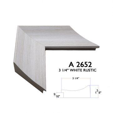3 1/4 white rustic A2652