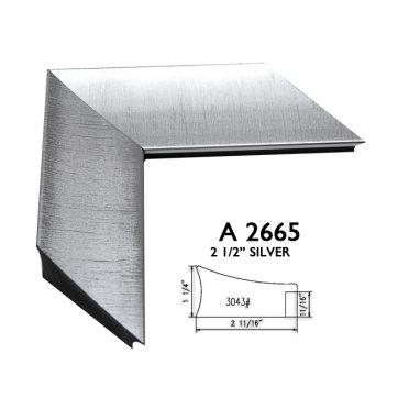 "2 1/2"" silver A2665"